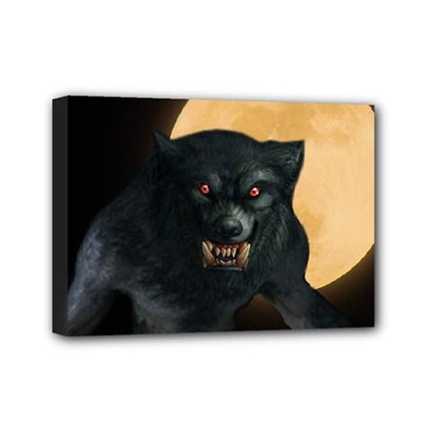 Werewolf Mini Canvas 7  X 5  by Valentinaart