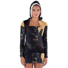 Werewolf Long Sleeve Hooded T Shirt by Valentinaart