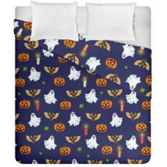 Halloween Pattern Duvet Cover Double Side (california King Size) by Valentinaart