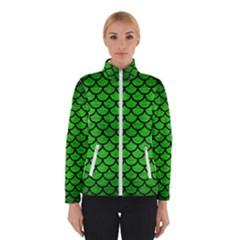 Scales1 Black Marble & Green Brushed Metal (r) Winterwear by trendistuff