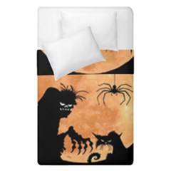 Halloween Duvet Cover Double Side (single Size) by Valentinaart