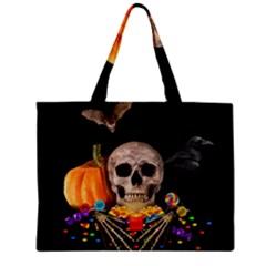 Halloween Candy Keeper Zipper Mini Tote Bag by Valentinaart