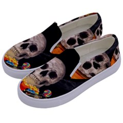 Halloween Candy Keeper Kids  Canvas Slip Ons by Valentinaart