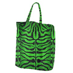 Skin2 Black Marble & Green Brushed Metal (r) Giant Grocery Zipper Tote by trendistuff