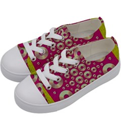 Going Gold Or Metal On Fern Pop Art Kids  Low Top Canvas Sneakers by pepitasart