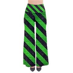 Stripes3 Black Marble & Green Brushed Metal (r) Pants by trendistuff