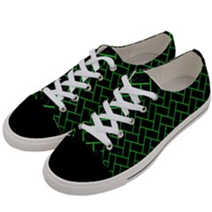 Brick2 Black Marble & Green Colored Pencil Women s Low Top Canvas Sneakers by trendistuff
