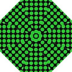 Circles1 Black Marble & Green Colored Pencil Hook Handle Umbrellas (large) by trendistuff