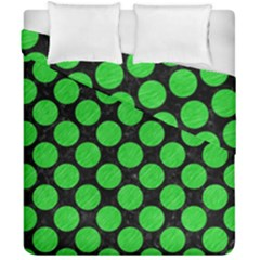 Circles2 Black Marble & Green Colored Pencil Duvet Cover Double Side (california King Size) by trendistuff
