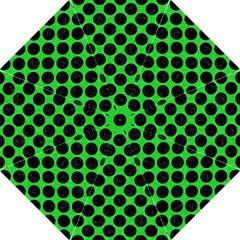 Circles2 Black Marble & Green Colored Pencil (r) Folding Umbrellas by trendistuff
