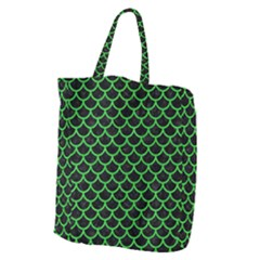 Scales1 Black Marble & Green Colored Pencil Giant Grocery Zipper Tote by trendistuff