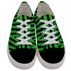 Skin4 Black Marble & Green Colored Pencil (r) Women s Low Top Canvas Sneakers