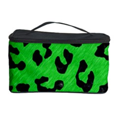 Skin5 Black Marble & Green Colored Pencil Cosmetic Storage Case by trendistuff