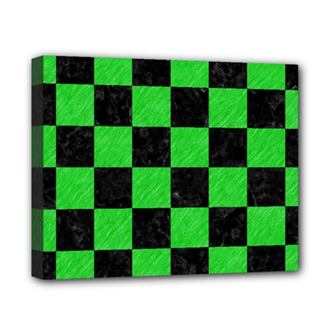 Square1 Black Marble & Green Colored Pencil Canvas 10  X 8  by trendistuff