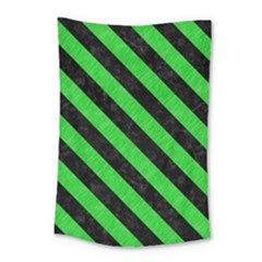Stripes3 Black Marble & Green Colored Pencil (r) Small Tapestry by trendistuff