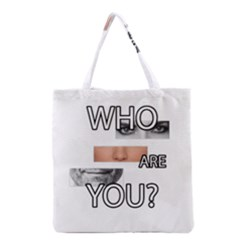 Who Are You Grocery Tote Bag by Valentinaart