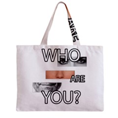 Who Are You Zipper Mini Tote Bag by Valentinaart