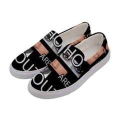 Who Are You Women s Canvas Slip Ons by Valentinaart