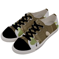 Cute Elephant Men s Low Top Canvas Sneakers by Valentinaart
