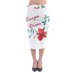Carpe Diem  Midi Pencil Skirt by Valentinaart
