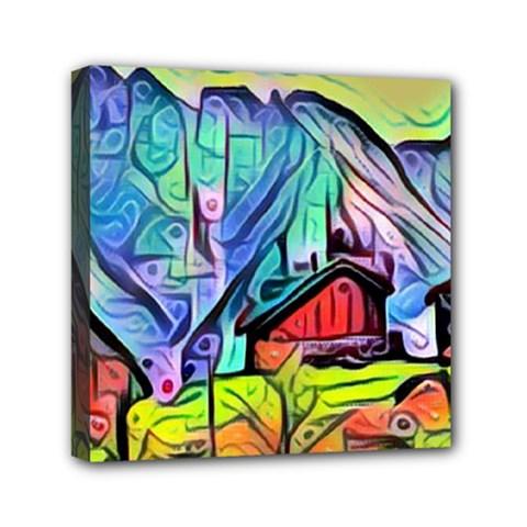 Magic Cube Abstract Art Mini Canvas 6  X 6  by 8fugoso