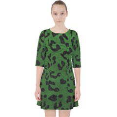 Skin5 Black Marble & Green Leather Pocket Dress by trendistuff