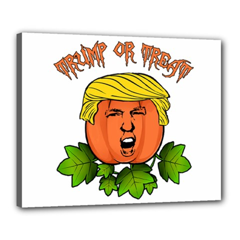 Trump Or Treat  Canvas 20  X 16  by Valentinaart