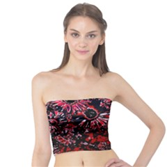 Amazing Glowing Flowers C Tube Top by MoreColorsinLife