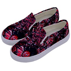 Amazing Glowing Flowers C Kids  Canvas Slip Ons by MoreColorsinLife