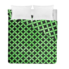 Circles3 Black Marble & Green Watercolor Duvet Cover Double Side (full/ Double Size) by trendistuff