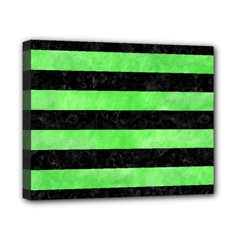 Stripes2 Black Marble & Green Watercolor Canvas 10  X 8  by trendistuff