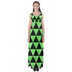 Triangle3 Black Marble & Green Watercolor Empire Waist Maxi Dress