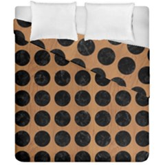 Circles1 Black Marble & Light Maple Wood (r) Duvet Cover Double Side (california King Size) by trendistuff