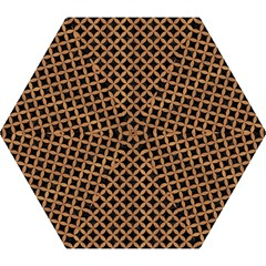 Circles3 Black Marble & Light Maple Wood Mini Folding Umbrellas by trendistuff