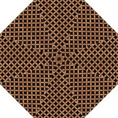 Circles3 Black Marble & Light Maple Wood Hook Handle Umbrellas (large) by trendistuff