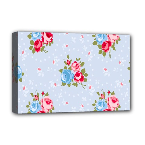 Cute Shabby Chic Floral Pattern Deluxe Canvas 18  X 12   by 8fugoso