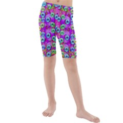 Festive Metal And Gold In Pop Art Kids  Mid Length Swim Shorts by pepitasart