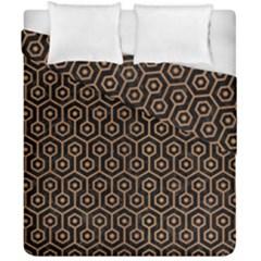 Hexagon1 Black Marble & Light Maple Wood Duvet Cover Double Side (california King Size) by trendistuff