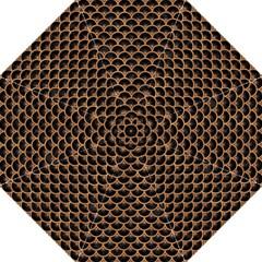 Scales3 Black Marble & Light Maple Wood Hook Handle Umbrellas (medium) by trendistuff