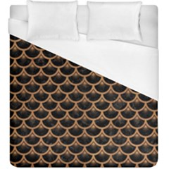 Scales3 Black Marble & Light Maple Wood Duvet Cover (king Size) by trendistuff