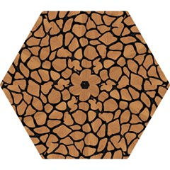 Skin1 Black Marble & Light Maple Wood Mini Folding Umbrellas by trendistuff