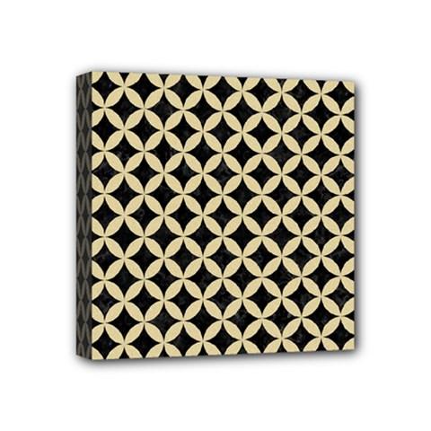 Circles3 Black Marble & Light Sand Mini Canvas 4  X 4  by trendistuff