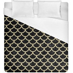 Scales1 Black Marble & Light Sand Duvet Cover (king Size) by trendistuff