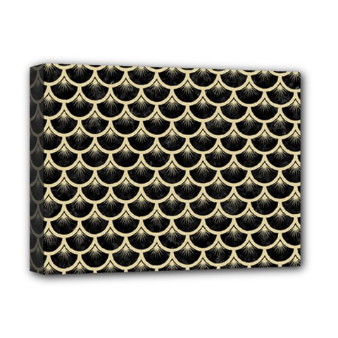 Scales3 Black Marble & Light Sand Deluxe Canvas 16  X 12   by trendistuff
