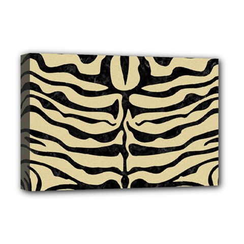 Skin2 Black Marble & Light Sand (r) Deluxe Canvas 18  X 12   by trendistuff