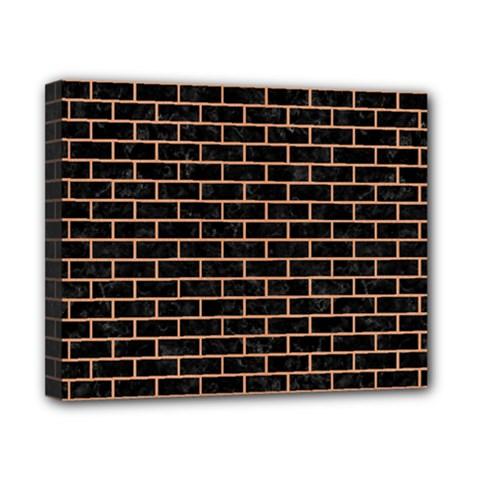 Brick1 Black Marble & Natural Red Birch Wood Canvas 10  X 8  by trendistuff