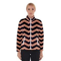 Chevron3 Black Marble & Natural Red Birch Wood Winterwear by trendistuff