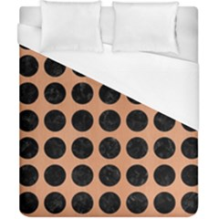 Circles1 Black Marble & Natural Red Birch Wood (r) Duvet Cover (california King Size) by trendistuff