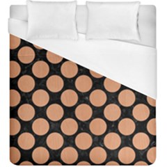 Circles2 Black Marble & Natural Red Birch Wood Duvet Cover (king Size) by trendistuff