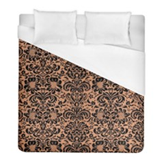 Damask2 Black Marble & Natural Red Birch Wood (r) Duvet Cover (full/ Double Size) by trendistuff